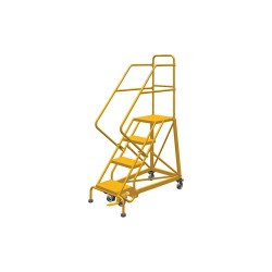 Louisville Ladder - GSX1604 - 4-Step Rolling Ladder, 76 Overall Height, 450 lb. Load Capacity