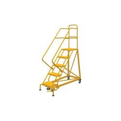 Louisville Ladder - GSX2405 - 5-Step Rolling Ladder, Perforated Step Tread, 86 Overall Height, 450 lb. Load Capacity