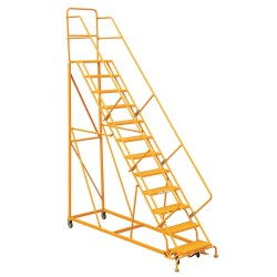 "Louisville Ladder - GSX2412 - 12-Step Rolling Ladder, 89"" Overall Height, 450 lb. Load Capacity"