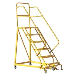 Louisville Ladder - GSX2406 - 6-Step Rolling Ladder, 96 Overall Height, 450 lb. Load Capacity