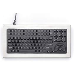 iKey - DT5KNI - iKey DT-5K Keyboard - PS/2 - 113 Keys - Silver, Black