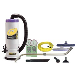 ProTeam - 107119 - 2-1/2 gal. Backpack Vacuum, 150 cfm, 9.9 Amps, HEPA Filter Type