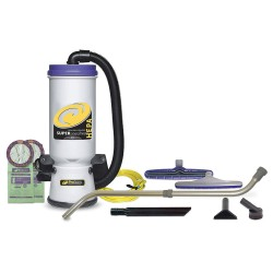 ProTeam - 107118 - 1-1/2 gal. Backpack Vacuum, 150 cfm, 9.9 Amps, HEPA Filter Type