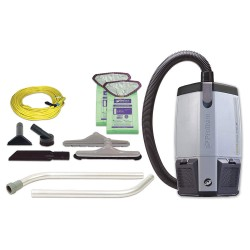 ProTeam - 107363 - 1-1/2 gal. Backpack Vacuum, 159 cfm, 9-1/2 HP, 9.5 Amps, Standard Filter Type
