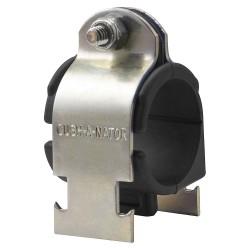 ZSI - CN14 - Standard Cushioned Clamp, 7/8 Tube Size, Steel Clamp, Standard TPE Cushion