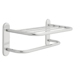 Liberty Hardware - 2787PC - 20-1/8L x 8-1/2H x 9-7/8D Chrome Towel Shelf