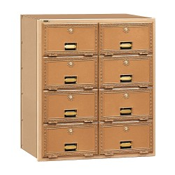 Salsbury Industries - 2008RL - Mailbox, Rear Loading, 8 Doors, Brass