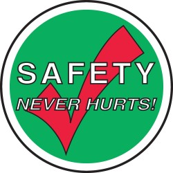 Accuform Signs - MFS2317 - Accuform Signs 17 Diameter White And Green 4 mils Adhesive Vinyl Slip-Gard Safety Promotional Floor Sign SAFETY NEVER HURTS., ( Each )