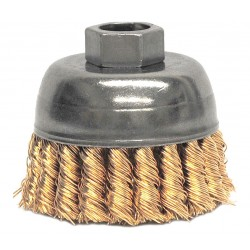 Weiler - 13299 - Weiler 2 3/4 X 5/8 - 11 Bronze Single Row Knot Wire Cup Brush For Use On Right Angle Grinders, ( Each )