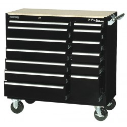 Kennedy - 10494BK - Pro Line 13 Drawer Maintenance Cart