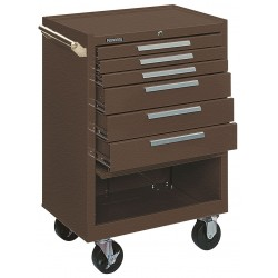 "Kennedy - 376XB - Brown Rolling Cabinet, Industrial, Width: 27"", Depth: 18"", Height: 39"""