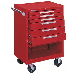 "Kennedy - 376XR - Red Rolling Cabinet, Industrial, Width: 27"", Depth: 18"", Height: 39"""
