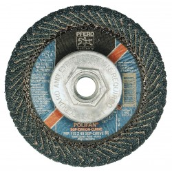 "Pferd - 67212 - 4-1/2"" Flap Disc, Radial, Zirconia Alumina, 40 Grit, 5/8-11 Mounting Size, SGP CURVE 9/16"" Thickness"