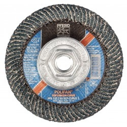 "Pferd - 67359 - 4-1/2"" Flap Disc, Radial, Zirconia Alumina, 40 Grit, 5/8-11 Mounting Size, SGP CURVE 5/8"" Thickness"