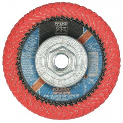 "Pferd - 67258 - 4-1/2"" Flap Disc, Radial, Ceramic, 60 Grit, 5/8-11 Mounting Size, SGP CURVE 5/8"" Thickness"