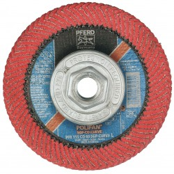 "Pferd - 67405 - 4-1/2"" Flap Disc, Radial, Ceramic, 60 Grit, 5/8-11 Mounting Size, SGP CURVE 9/16"" Thickness"