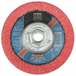 Pferd - 67364 - 5 Flap Disc, Radial, Ceramic, 60 Grit, 5/8-11 Mounting Size, SGP CURVE 9/16 Thickness