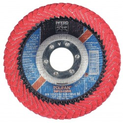 "Pferd - 67234 - 4-1/2"" Flap Disc, Radial, Ceramic, 60 Grit, 7/8"" Mounting Size, SGP CURVE 5/8"" Thickness"