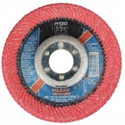 "Pferd - 67381 - 4-1/2"" Flap Disc, Radial, Ceramic, 60 Grit, 7/8"" Mounting Size, SGP CURVE 9/16"" Thickness"