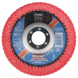 "Pferd - 67197 - 5"" Flap Disc, Radial, Ceramic, 60 Grit, 7/8"" Mounting Size, SGP CURVE 5/8"" Thickness"