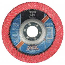 Pferd - 67344 - 5 Flap Disc, Radial, Ceramic, 60 Grit, 7/8 Mounting Size, SGP CURVE 9/16 Thickness