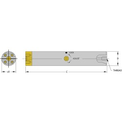 Ultra-Dex / Arch Global - SCFT B1000-10 - Boring Bar, Chatter-Free, 1.200 in. dia.