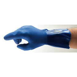 Ansell-Edmont - 04-644 - Chemical Resistant Gloves, Cotton Lining, Blue, PR 1