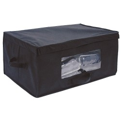 Hospitality 1 - BLKTBOX-BL - 15 Nonwoven Fabric Blanket Box, Black