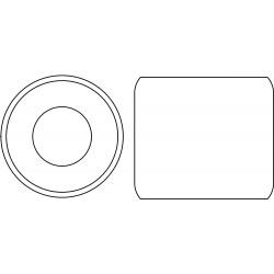 Other - RDNTBSL786 - Round Nut, 360 Brass, 7/8-6, PK5