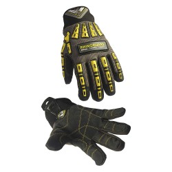 Tilsatec - TTP452 - Polyurethane Cut Resistant Gloves, ANSI/ISEA Cut Level 5 Lining, Black, Gray, Yellow, S, PR 1