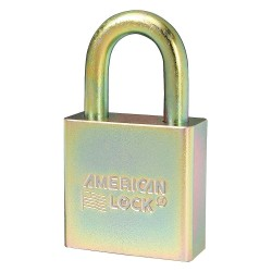 American Lock - A5200GLNKAS6 - Alike-Government Padlock, Open Shackle Type, 1-1/8 Shackle Height, Silver