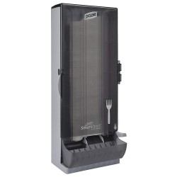 Dixie - SSFPD120 - Fork Dispenser, Translucent Smoke, Height 24-3/4, Width 10, Depth 8-25/32