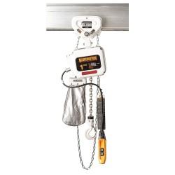 Harrington Hoists - NERG003LD-FG-10 - H4 Electric Chain Hoist, 500 lb. Load Capacity, 460V, 10 ft. Hoist Lift, 15/2.5 fpm