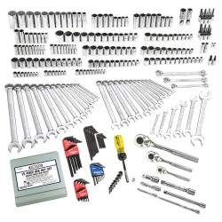 Proto - J47303 - 1/4, 3/8, 1/2Drive SAE/Metric Chrome Socket Wrench Set, Number of Pieces: 302