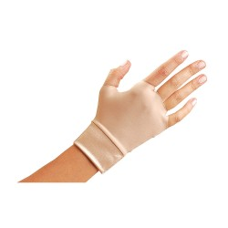 Occunomix - 450-2XS - OccuNomix X-Small Beige Original Occumitts Nylon And Spandex Fingerless Therapeutic Support Gloves, ( Pair )