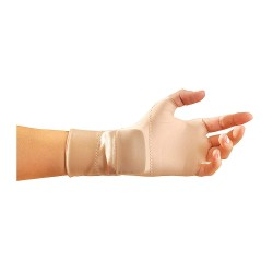 Occunomix - 451-3S - OccuNomix Small Beige OccuMitts Plus Nylon And Spandex Lightweight Fingerless Therapeutic Support Gloves, ( Pair )