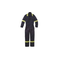 Workrite - 189UT70NB - UltraSoft, Flame-Resistant Coverall, Size: 38, Color Family: Blues, Closure Type: Zipper