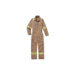 Workrite - 189UT70KH - UltraSoft, Flame-Resistant Coverall, Size: 38, Color Family: Beiges, Closure Type: Zipper