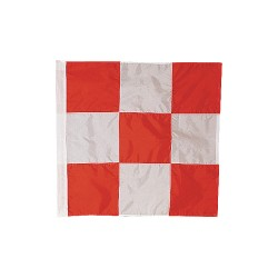 Annin - 3375 - Airfield Vehicle Safety Flag, 3 ft.H x 3 ft.W, Outdoor