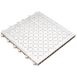 Ergo Advantage - A1-W - Interlocking Antifatigue Mat, Vinyl, White, 1 ft. 6 x 1 ft. 6, 10 PK