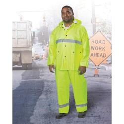 Onguard - 72115 2X 00 - Men's Hi-Visibility Yellow PVC 3-Piece Rainsuit, Size: 2XL, Fits Chest Size: 62