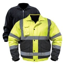 Old Toledo - UHV563-XL-YB - Jacket with Removable Liner, XL, Yllw/Blk