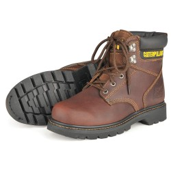Caterpillar (CAT) - P72365 5.5W - 6H Men's Work Boots, Plain Toe Type, Leather Upper Material, Tan, Size 5-1/2