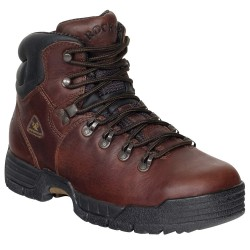 Rocky Shoes & Boots - 6114 SZ 16M - 6H Men's Work Boots, Steel Toe Type, Leather Upper Material, Brown, Size 16M