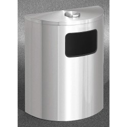 Glaro - 2494-BK-SA - Trash Can, Half Round, 24 gal., Black