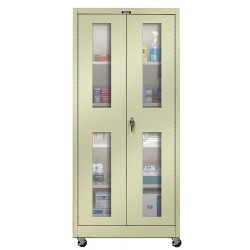 Hallowell - 425S24SVM-PT - Mobile Storage Cabinet, Parchment, 72 Overall Height, Unassembled