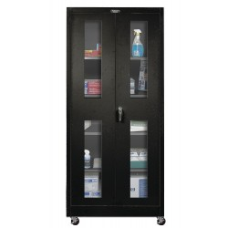 Hallowell - 425S24SVM-ME - Mobile Storage Cabinet, Black, 72 Overall Height, Unassembled
