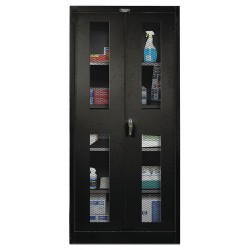 Hallowell - 425S18EV-ME - Storage Cabinet, Black, 72 Overall Height, Unassembled