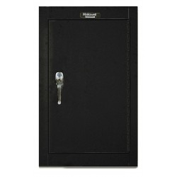 Hallowell - 405-1626A-ME - Black Wall Mount Storage Cabinet, 26 Overall Height, 16 Overall Width, Number of Shelves 1