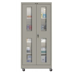 Hallowell - 415S24SVM-HG - Mobile Storage Cabinet, Gray, 72 Overall Height, Unassembled